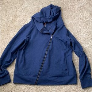 Lucy side zip blue hoodie size large